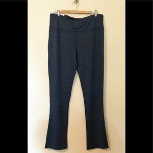 Crane Bootcut Yoga Pants Long leggings Blue XL NWT
